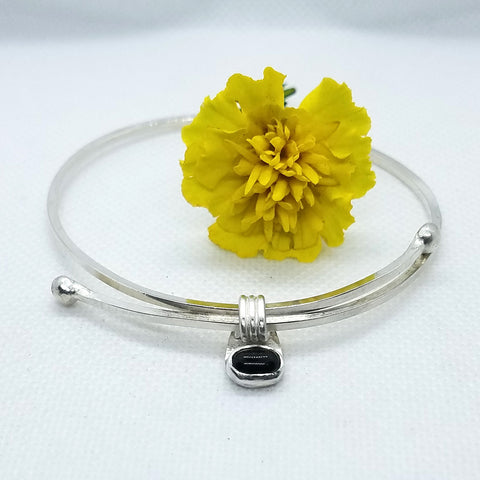 Adjustable Onyx Bangle