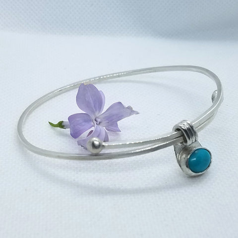 Adjustable Turquoise Bangle