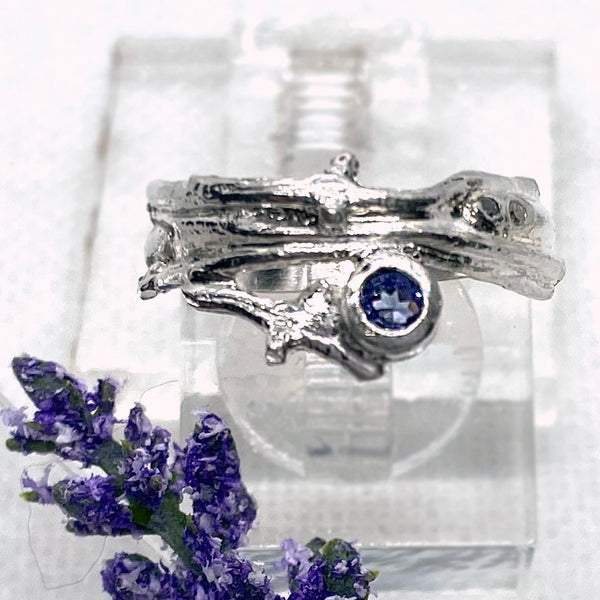 Tanzanite Branches Ring Band