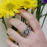 Unisex Wide Branch Ring Band