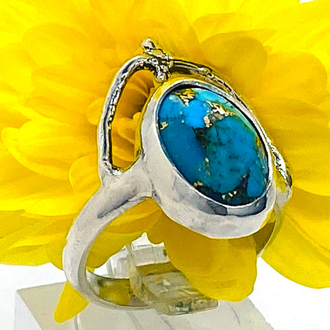Turquoise Branch Ring (size 7)