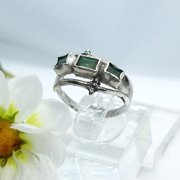 Two Branches Emerald Ring