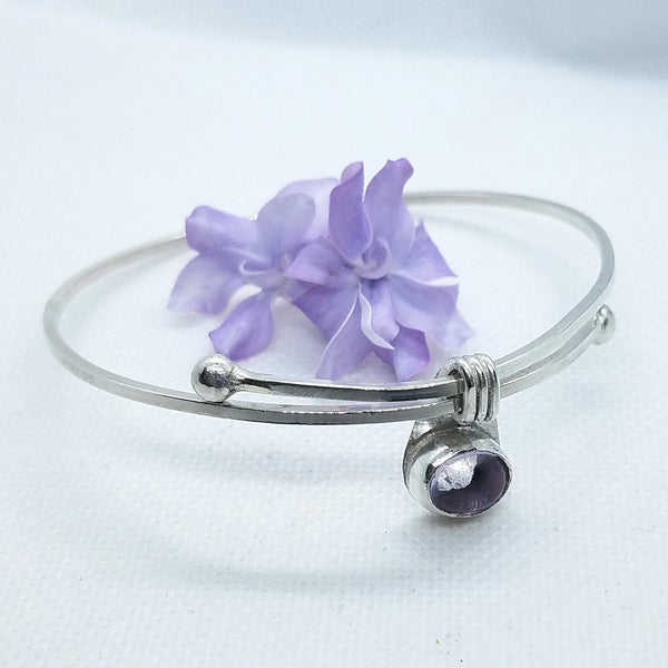 Adjustable Amethyst Bangle