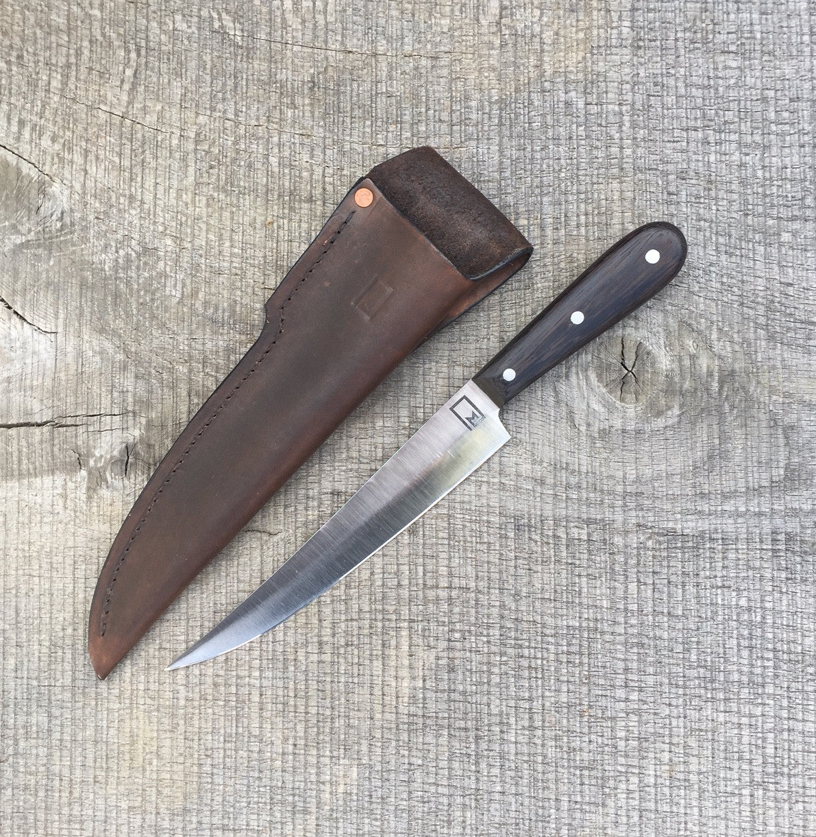 7 5 boning knife made of recycled carbon steel with wenge monolith knives. Black Bedroom Furniture Sets. Home Design Ideas