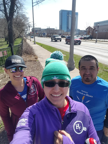 runners participating in our popular challenge to run every street in River Forest