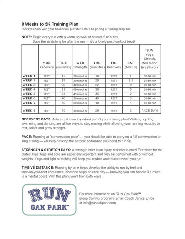 8 week 5k training plan