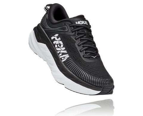 Hoka Bondi 7 Wide | Black/White