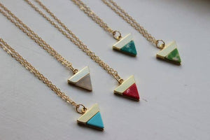 Laalee Jewelry - Gold Triangle Marble Necklace
