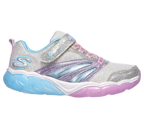 Skechers Kids' S Lights | Silver/Lavender