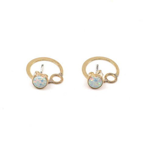 Mineral and Matter Circle Jacket Earrings