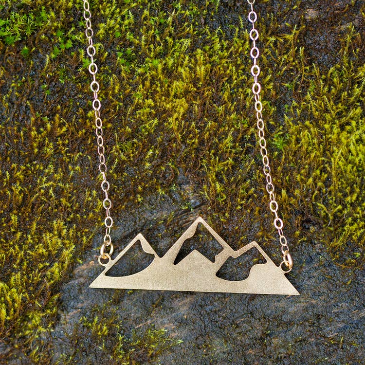 Made of Mountains Mountain Home Necklace Gold