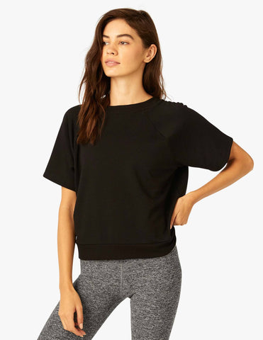 Beyond Yoga Cozy Fleece Tee | Black