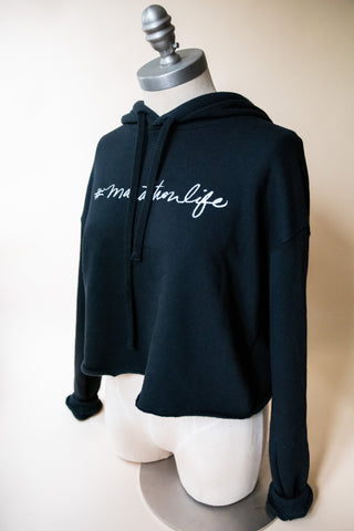 Megan Lee #marathonlife Cropped Hoodie