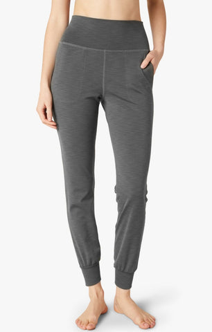 Beyond Yoga Rib Jogger | Smoke Grey Heather