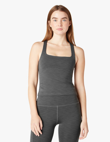Beyond Yoga Rib Tank | Smoke Grey Heather