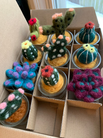 Tiny Hand-Felted Succulents