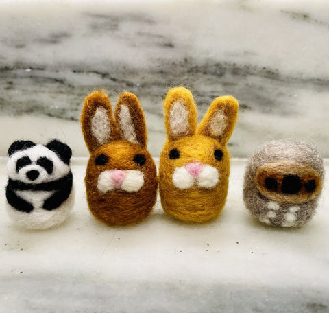 Tiny Hand-Felted Animals