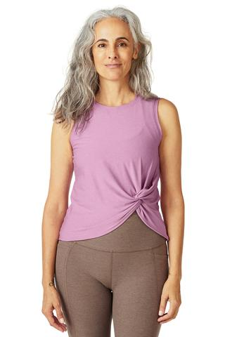 Beyond Yoga Twist Tank | Orchid Haze
