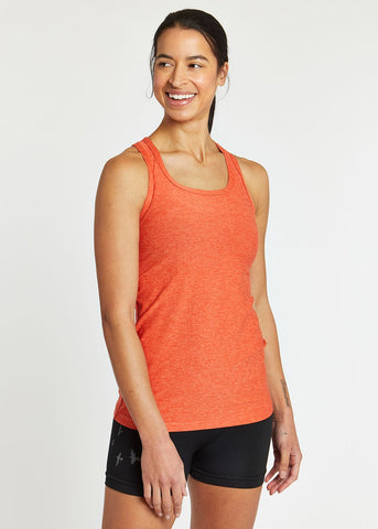 Oiselle Light Lux Long Tank | Garnet/Hibiscus