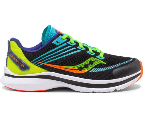 Saucony Youth Kinvara 12 | Black/Green