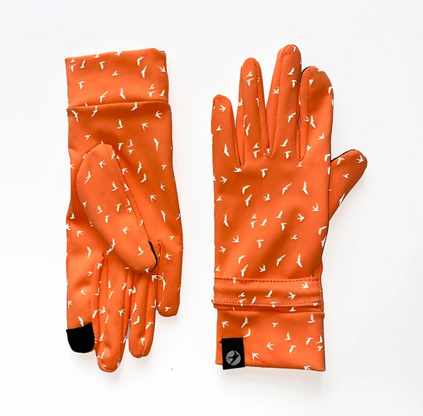 Oiselle Firecracker Reflective Gloves