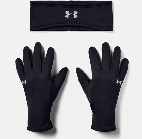 UA Run Headband and Glove Set