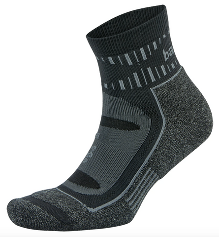 Balega Blister Resist Quarter | Grey/Black