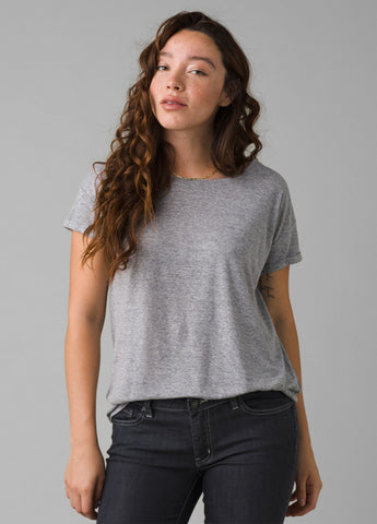 Prana Cozy Up Tee | Heather Grey