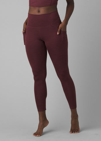 Prana Becksa 7/8 Legging | Maroon Heather