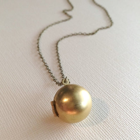 Marigold Mary Ball Locket