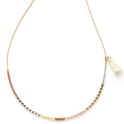 Amano Studio Japanese Seed Bead Necklaces Champagne