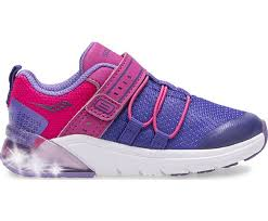Saucony Little Flash Glow Jr | Purple/Pink