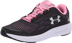 UA Youth Charged Pursuit | Black/Pink