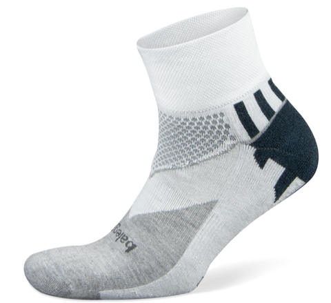 Balega Enduro Quarter | White/Mid Grey