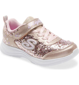 Skechers Youth Glimmer Kicks | Gold/Pink