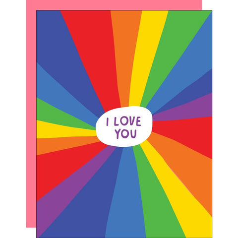 Rainbow I Love You Card