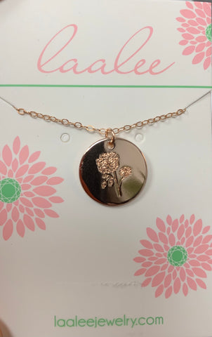 Laalee Rose Gold October Marigold Necklace