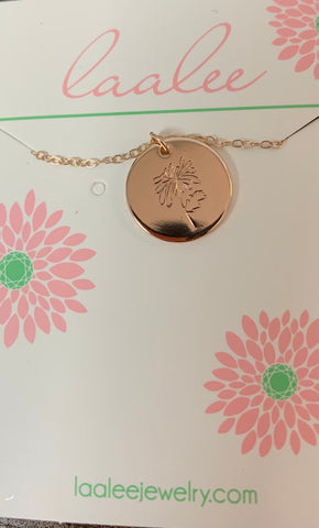 Laalee Rose Gold Nov Chrysanthemum Necklace