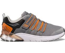 Saucony Flash Glow Jr | Grey/Orange