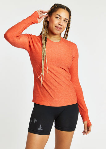 Oiselle Light Lux Long Sleeve | Garnet/Hibiscus