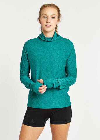 Oiselle Mile One Pullover | PNW/Shelly Green