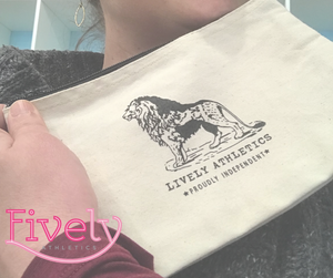 Lively Lion Cosmetic Bag
