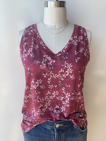 Lole Agda Tank | Earth Red Romantic Flower