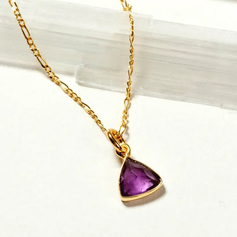 Luna Norte Bermuda Triangle Amethyst Necklace
