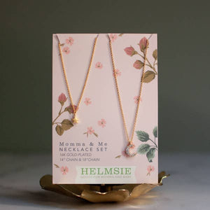 Helmsie Momma and Me Necklace Sets