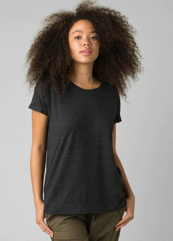 Prana Cozy Up Tee | Charcoal Heather