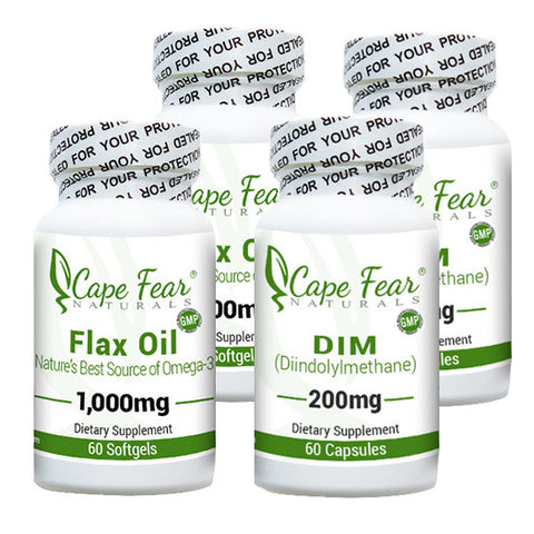 2 DIM and 2 Flax Oil Combo Deal- Save $5! - Cape Fear Naturals, LLC