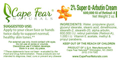 Kojic Acid Cream and 2% Super a-Arbutin Cream Combo Deal - Save $6! - Cape Fear Naturals, LLC