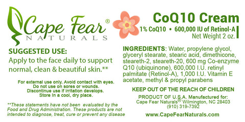CoQ10 Cream - Cape Fear Naturals, LLC