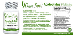 Acidophilus/ Lactobacillus Supplements - Cape Fear Naturals, LLC